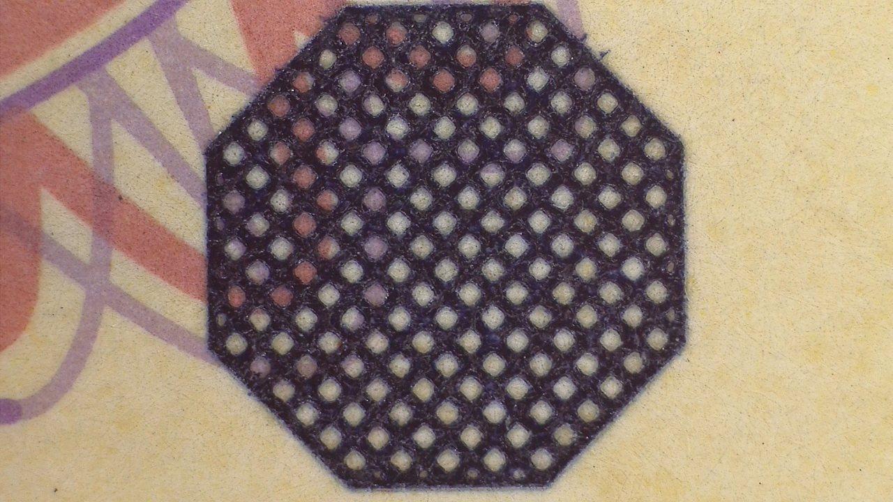 五千円札識別マーク(深凹版印刷)