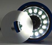 内蔵照明と拡散フィルター
